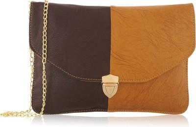Fantosy Women Brown PU Sling Bag