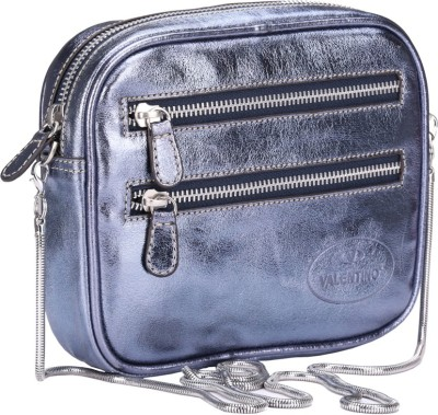 Valentino Women Casual Blue Genuine Leather Sling Bag