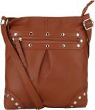 Bling It On Women Brown PU Sling Bag