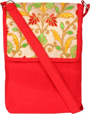 Art Horizons Women Red Cotton Sling Bag