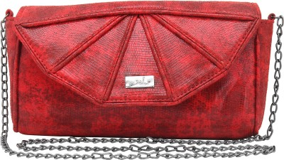 Yelloe Women Red PU Sling Bag