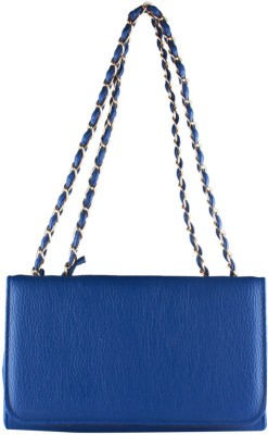 Fiza Women Blue Leatherette Sling Bag