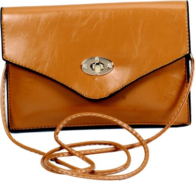 Classique Women Casual, Formal, Evening/Party Brown PU Sling Bag