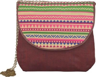 Arisha kreation Co Women Maroon Cotton Sling Bag