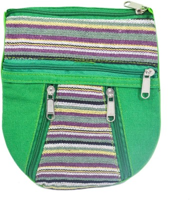 Mpkart Girls Casual Green Jute, Cotton Sling Bag