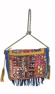 Jaipurtextileshub Women Multicolor Genuine Leather Sling Bag