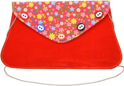 Sanjog Women, Girls Red Velvet Sling Bag