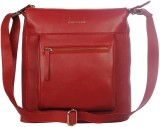Justanned Women Red Genuine Leather Slin...
