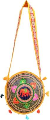 Ruff Girls, Women Yellow Cotton Sling Bag