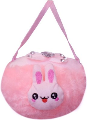 ARIP Girls Pink Velvet Sling Bag
