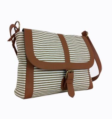 Carry on Bags Women Casual Beige, Brown, Tan, Black Canvas, PU Sling Bag