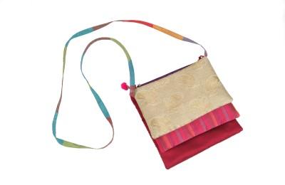 Bagkrafts Women Multicolor Silk Sling Bag