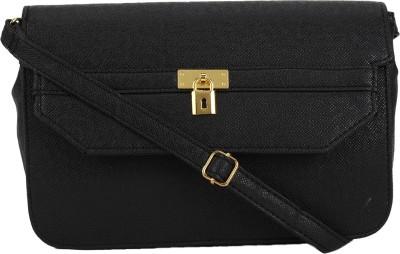 Stylathon Women Black PU Sling Bag