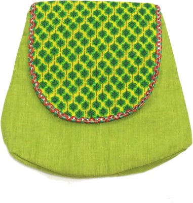 Hand to Hearts Women Casual Green, Multicolor Cotton Sling Bag