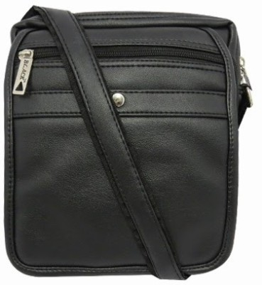 Chimera Leather Men, Women Casual, Formal Black PU Sling Bag