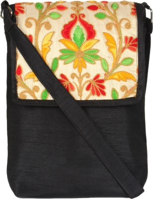 Art Horizons Women Black Cotton Sling Bag