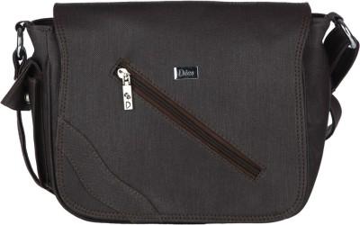 Dice Women Casual Black PU Sling Bag