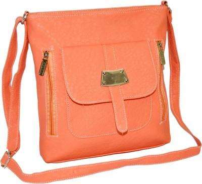 Minar Girls Orange PU Sling Bag