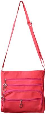 Bueva Women Pink PU Sling Bag
