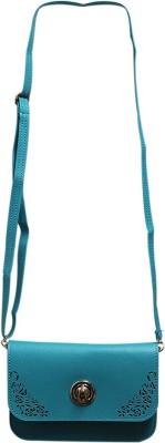Fab Fashion Women Blue PU Sling Bag