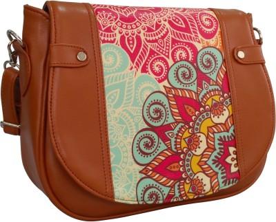 Toteteca Bag Works Women Tan PU Sling Bag