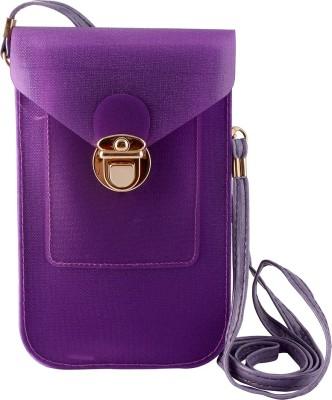 Thebagzone Women Purple PU Sling Bag