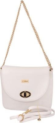 Cheery Women White PU Sling Bag