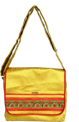 Merci Women Casual Yellow Linen Sling Bag