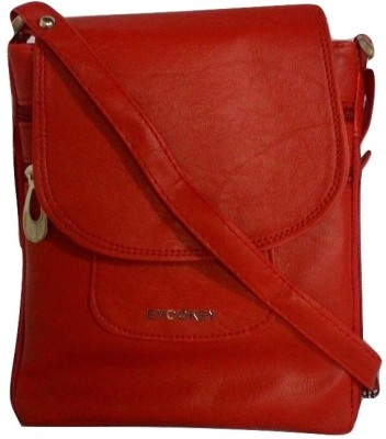 Evookey Girls, Women, Men, Boys Red Leatherette Sling Bag