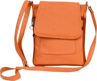 Apick Women Orange Rexine Sling Bag