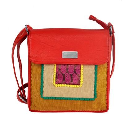 Hawai Women Red PU Sling Bag