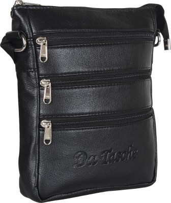 Da Tasche Boys, Girls Black Leatherette Sling Bag