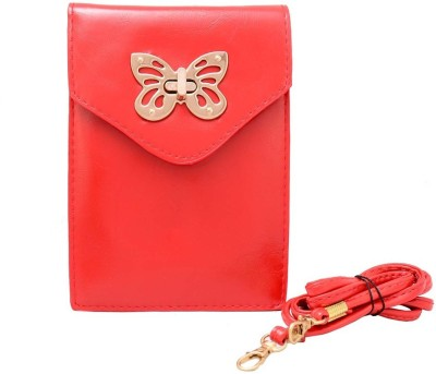 Shopaholic Fashion Women Red PU Sling Bag