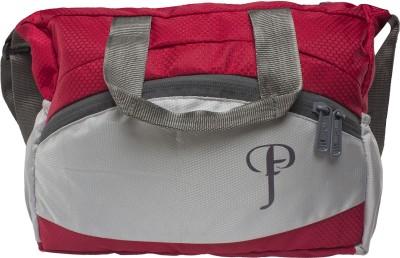Purple Feather Men Red Nylon Sling Bag