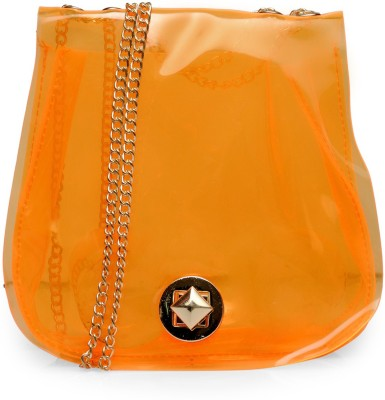 Bags Craze Women Orange Silicon Sling Bag
