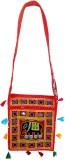 RTD Women Red, Black Cotton Shoulder Bag