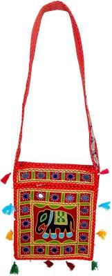 RTD Girls, Women Red, Black Cotton Shoulder Bag