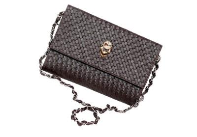 D Jindals Women Formal Brown PU Sling Bag