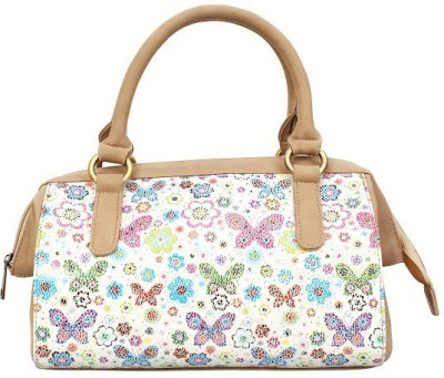 Ayeshu Girls Beige Canvas Sling Bag