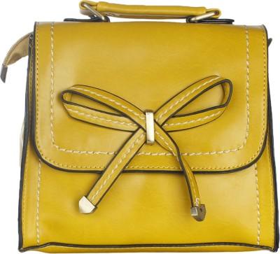 Riti Women Yellow PU Sling Bag