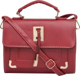 Satchel Bags Women Red PU Sling Bag