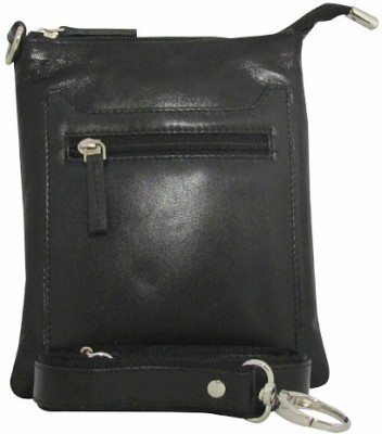 Chimera Leather Women Black Genuine Leather Sling Bag