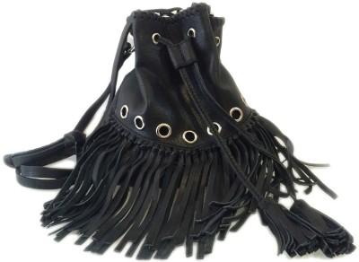Romari Women Black Genuine Leather Sling Bag