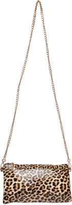 Fashionboom Women Gold PU Sling Bag
