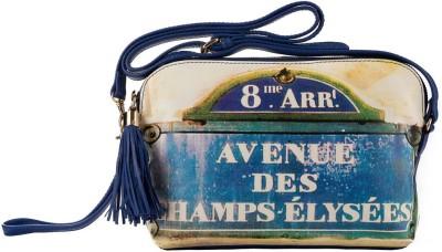 Klasse Women Casual Blue Genuine Leather Sling Bag