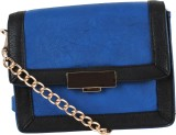 Kalon Women Blue PU Sling Bag