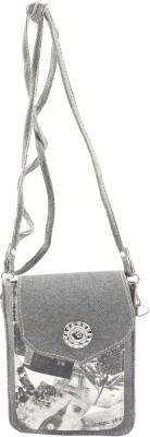Bagathon India Women Grey Canvas Sling Bag