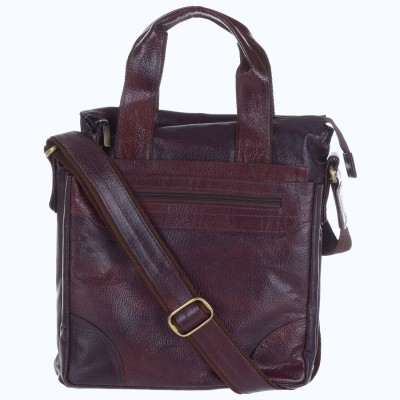 Bluwhale Men, Women Casual, Formal Brown Genuine Leather Sling Bag