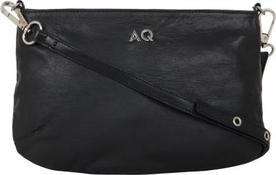 AQ Women Black PU Sling Bag