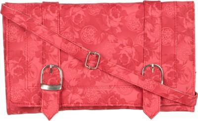 MTE Girls Pink PU Sling Bag